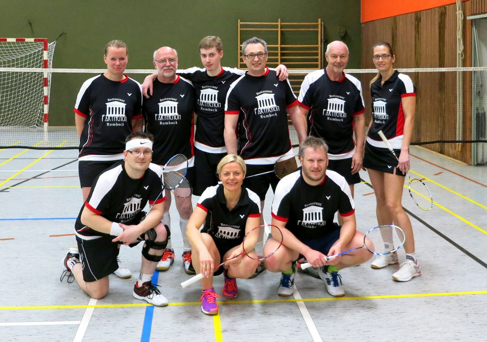 Badminton Team des TV Hemeringen in der Saison 2016/17